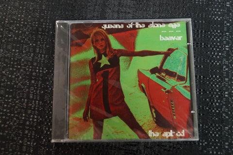 Queens of the Stoneage/Beaver Split Release 1998 CD Art By Kozik
