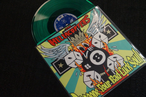 "The Hellacopters ""Doggone Your Bad Luck Soul"" 1999 Colored Vinyl Art By Kozik"
