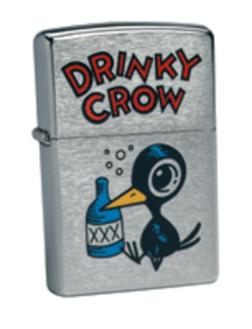 Zippo Lighter - Flame Rite - Drinky Crow