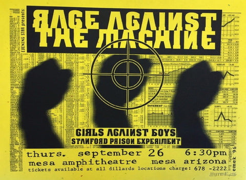 Emek - 1996 - Rage Against the Machine Yellow Handbill