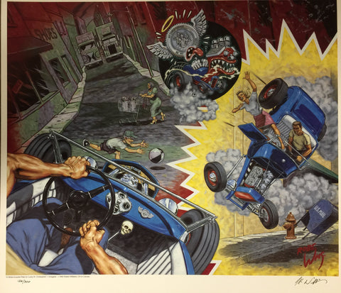 Robert Williams - 1992 - A White Knuckle Ride for Lucky St. Christopher Print (Signed/Numbered)