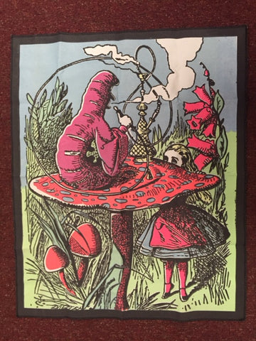 Vintage Tapestry - Alice in Wonderland - Caterpillar & Hookah