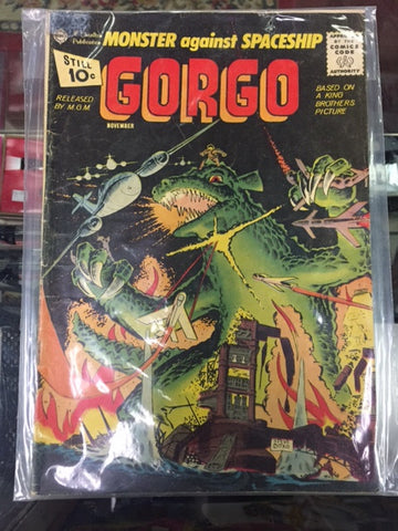 """Monster Against Spaceship"" Gorgo #4 1961 Steve Ditko"