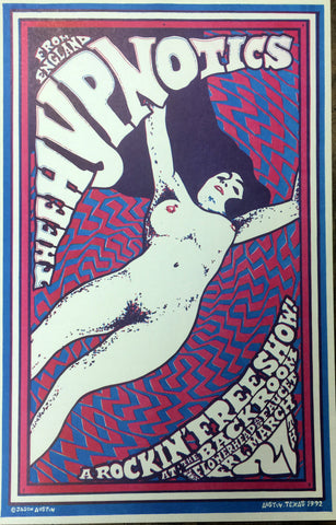 Jason Austin - 1992 - The Hypnotics Concert Poster