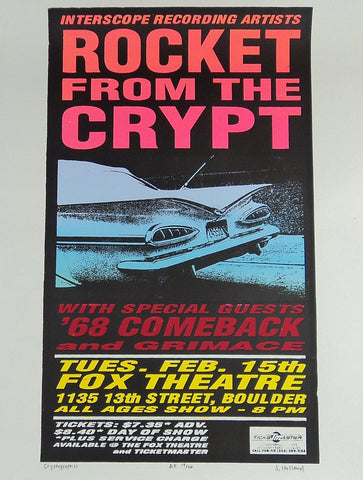 Jeff Holland - 1996 - Rocket From The Crypt (AP) Poster