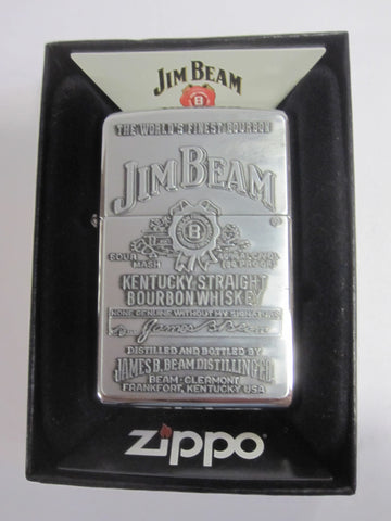 Zippo Lighter - Alcohol - Jim Beam Chrome Emblem