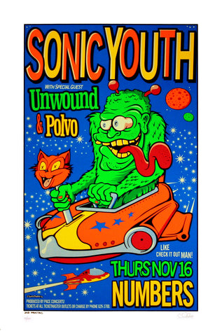 Uncle Charlie - 1995 - Sonic Youth Concert Poster