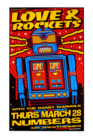 Uncle Charlie - 1996 - Love and Rockets Concert Poster