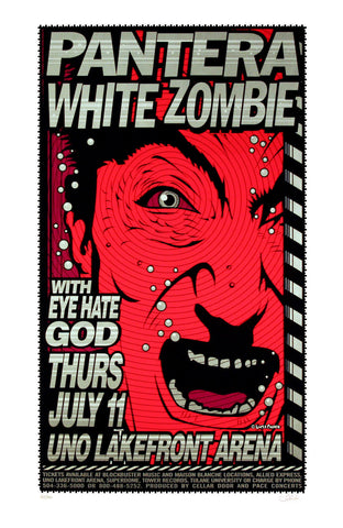 Uncle Charlie - 1996 - Pantera / White Zombie Concert Poster