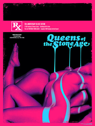 Kii Arens - 2010 - Queens of the Stone Age Concert Poster