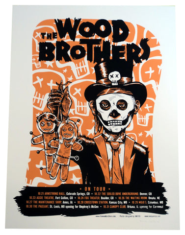 Lonny Unitus - 2010 - The Wood Brothers November Tour Concert Poster