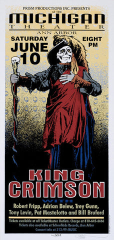 Mark Arminski - 1995 - King Crimson Concert Poster