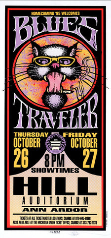 Mark Arminski - 1995 - Blues Travler Ann Arbor Concert Poster
