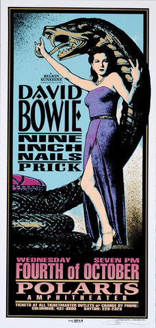 Mark Arminski - 1995 - David Bowie/ Nine Inch Nails Concert Poster