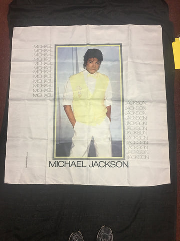 Vintage Tapestry - MICHAEL JACKSON - White and Yellow