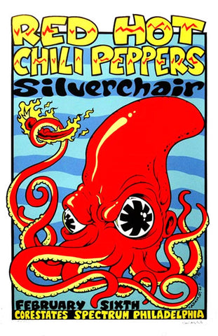 Adam Swinbourne - 1996 - Red Hot Chili Peppers / Silverchair Concert Poster