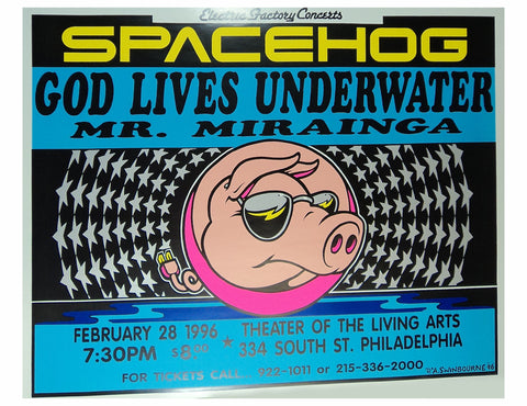 Adam Swinbourne - 1996 - Spacehog Concert Poster