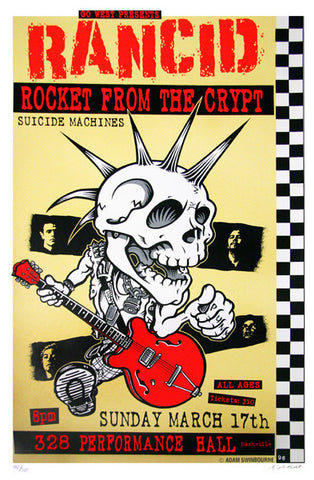 Adam Swinbourne - 1996 - Rancid Concert Poster