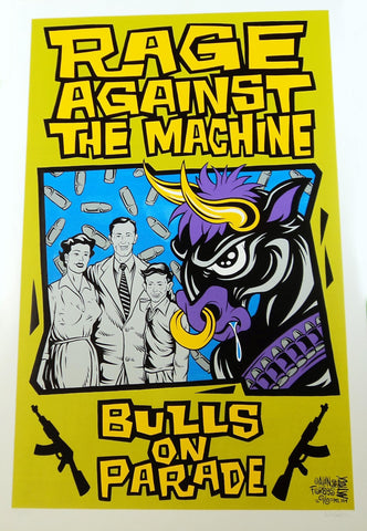Alan Forbes - 1996 - Rage Against the Machine Concert Poster