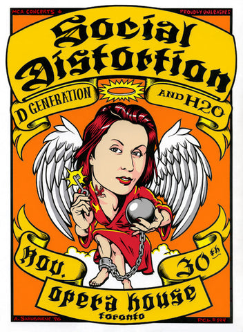 Adam Swinbourne - 1996 - Social Distortion Concert Poster
