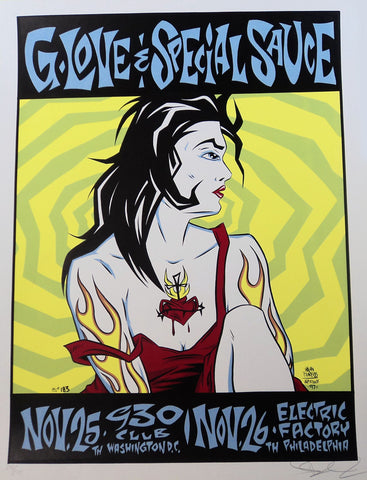 Alan Forbes - 1997 - G Love and Special Sauce Concert Poster