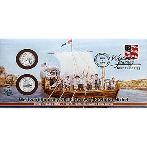 2004 Keelboat Nickel Official First Day Coin Cover (Q68)
