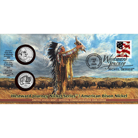 2005 American Bison Nickel Official First Day Coin Cover (Q69)