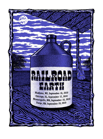 Timothy Ripley - 2010 - Railroad Earth Tour Poster