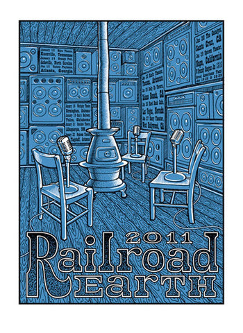 Timothy Ripley - 2011 - Railroad Earth Tour Poster