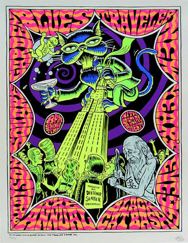 Ward Sutton - 1996 - Blues Traveler Concert Poster