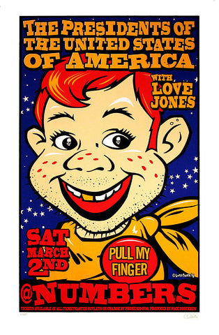 Uncle Charlie - 1996 - Presidents of the USA Concert Poster