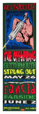 TAZ - 1994 - Get Injected: The Offspring Concert Poster