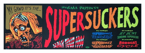 TAZ - 1994 - Supersuckers Japan Tour 1994 Poster