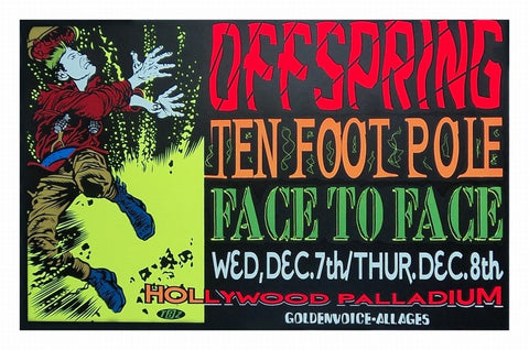 TAZ - 1994 - The Offspring Concert Poster