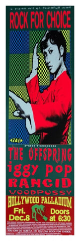 TAZ - 1995 - Rock For Choice: Offspring/Iggy Pop Concert Poster