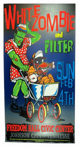 TAZ - 1996 - White Zombie/Filter Concert Poster
