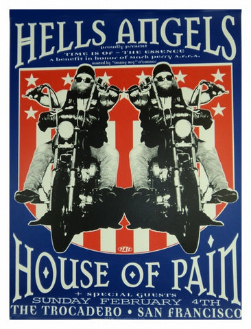 "TAZ - 1996 - Hell's Angels ""Time is of the Essence"" Poster"