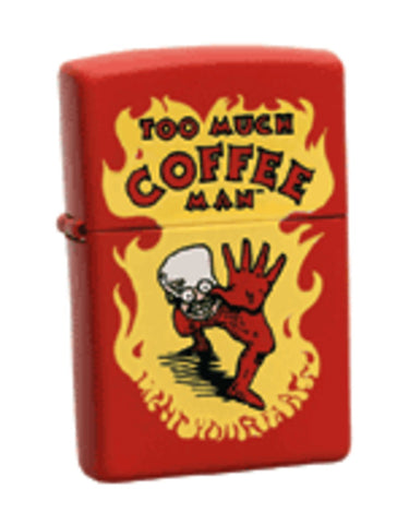 Zippo Lighter - Flame Rite - Too Much Coffee Man
