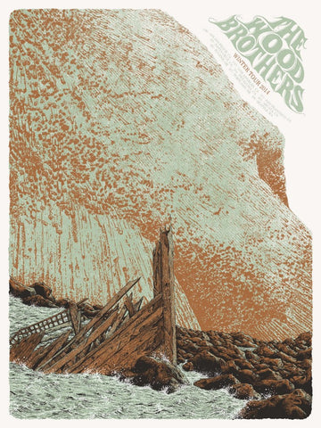 Neal Williams - 2014 The Wood Brothers - Winter Tour Poster