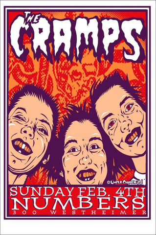 Uncle Charlie - 1995 - Cramps Concert Poster