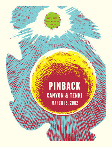 Aesthetic Apparatus - 2002 - Pinback Concert Poster