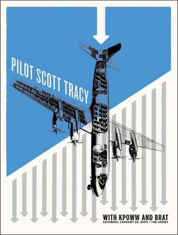 Aesthetic Apparatus - 2003 - Pilot Scott Tracy Concert Poster