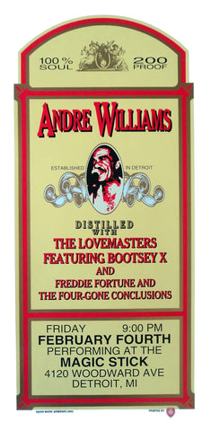 Mark Arminski - 2000 - Andre Williams Concert Poster