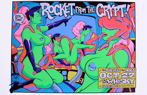 Coop - 1995 - Rocket From the Crypt Concert Poster
