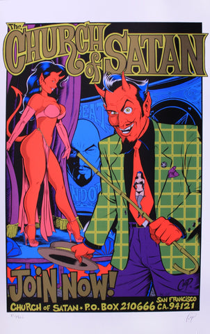 Coop - 1996 - Church of Satan Poster (Gold)