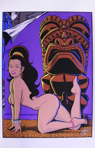 Coop - 1997 -Tiki Girl Art Print