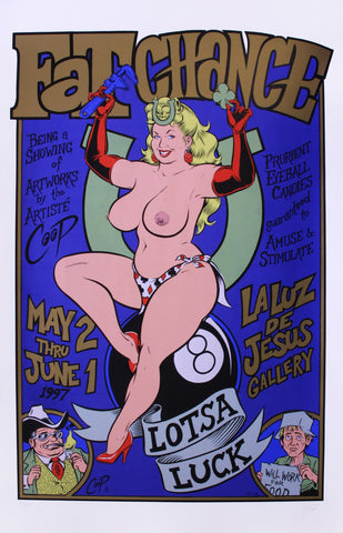Coop - 1997 - Fat Chance Art Show Exhibition Poster