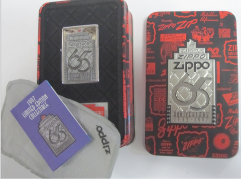 Zippo Lighter - Collectable of the Year - 1997 65th Anniversary
