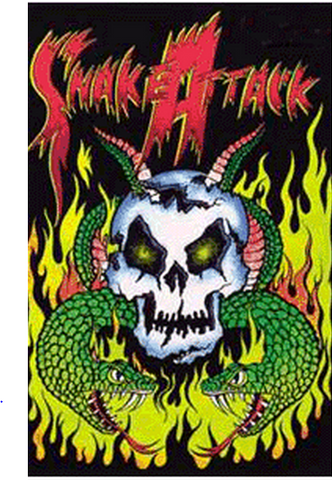 "Felt Black Light Poster - ""Snake Attack"""