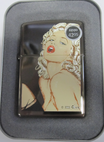 Zippo Lighter - Pinup - Olivia Cherry Red